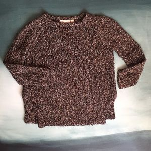 Inhabit Chunky Knit Salt And Pepper Sweater